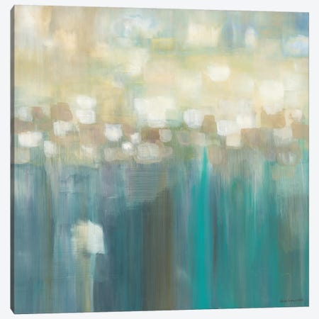 Aqua Light 3-Piece Canvas #KLP4} by Karen Lorena Parker Canvas Wall Art