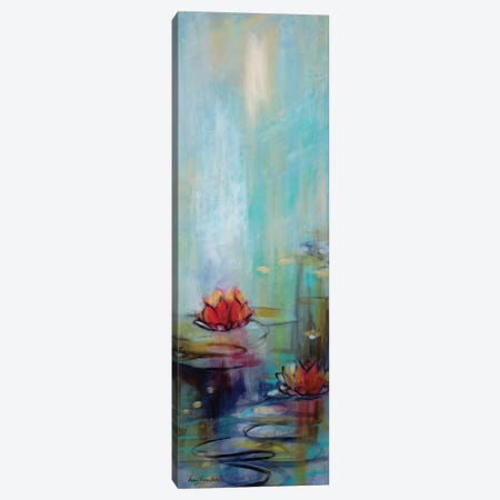Aqua Lotus I Canvas Print #KLP5} by Karen Lorena Parker Canvas Wall Art