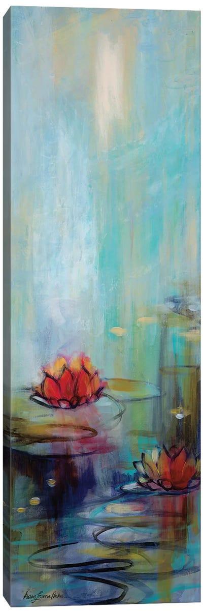 Aqua Lotus I Canvas Art Print