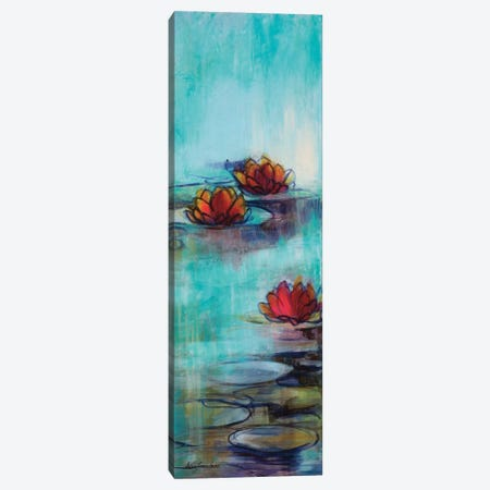 Aqua Lotus II Canvas Print #KLP6} by Karen Lorena Parker Canvas Art