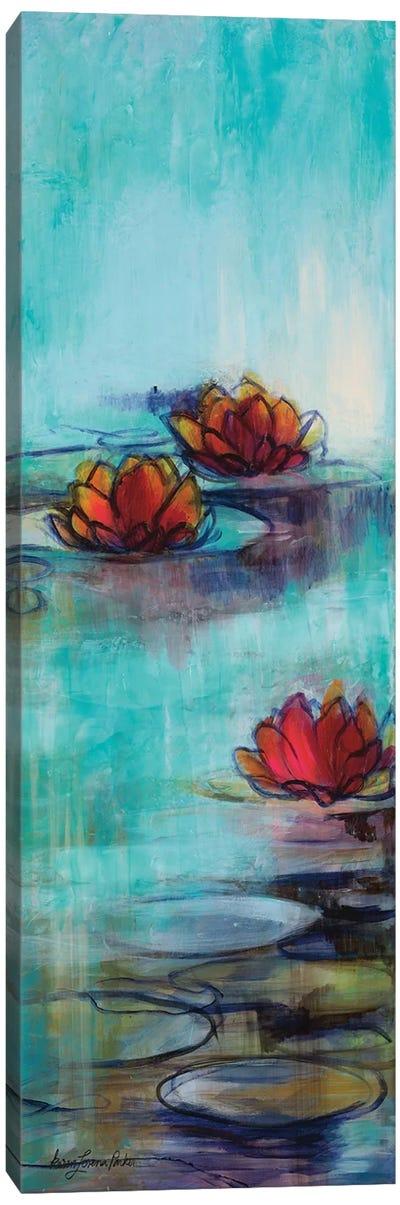 Aqua Lotus II Canvas Art Print