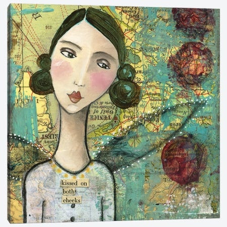 Kissed On Both Cheeks Canvas Print #KLR101} by Kelly Rae Roberts Canvas Artwork