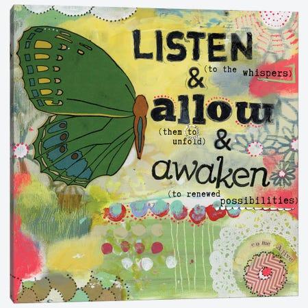Listen Allow Awaken Canvas Print #KLR117} by Kelly Rae Roberts Canvas Art