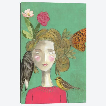 Quirky And Grateful Canvas Print #KLR140} by Kelly Rae Roberts Canvas Wall Art