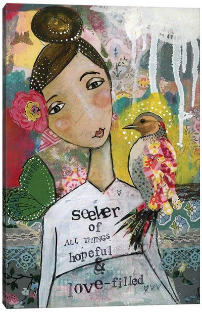 Seeker Of Hope And Love Canvas Art Print