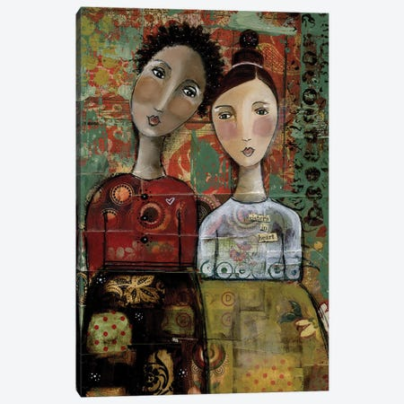 Sisters In Heart Canvas Print #KLR157} by Kelly Rae Roberts Canvas Art