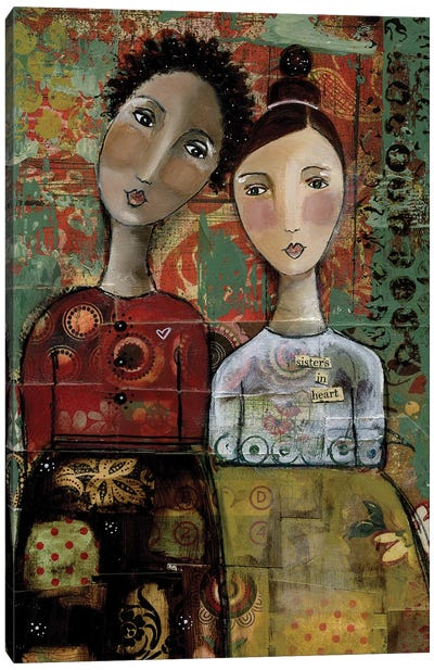 Sisters In Heart Canvas Art Print
