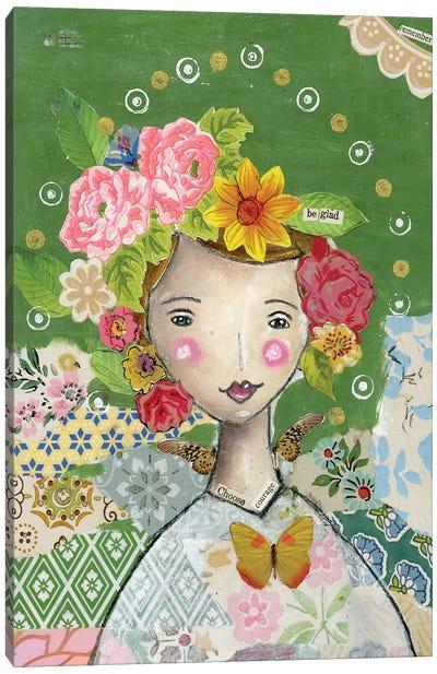 Be Glad Canvas Art Print