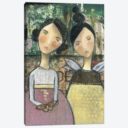 Soul Sisters Canvas Print #KLR160} by Kelly Rae Roberts Canvas Art
