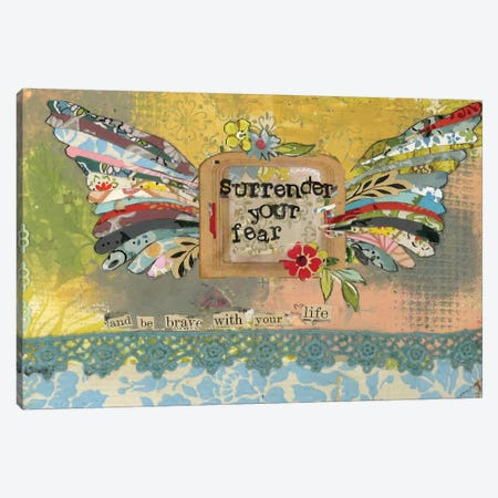 Surrender Your Fear Canvas Print #KLR166} by Kelly Rae Roberts Canvas Print