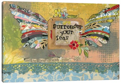 Surrender Your Fear Canvas Art Print