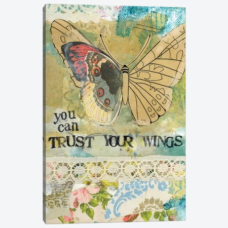 You Can Trust Your Wings Canvas Print #KLR197} by Kelly Rae Roberts Canvas Artwork