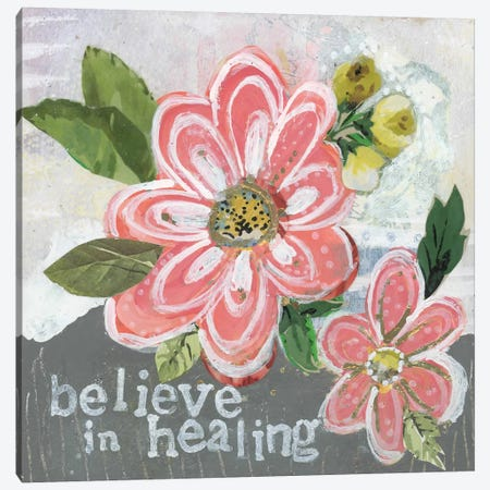 Believe In Healing Canvas Print #KLR19} by Kelly Rae Roberts Canvas Art Print