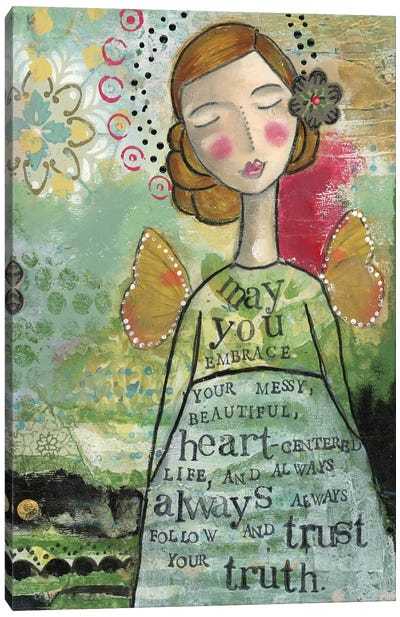 Your Messy Beautiful Life Canvas Art Print