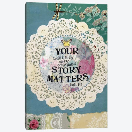 Your Story Matters II Canvas Print #KLR201} by Kelly Rae Roberts Art Print