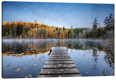 Autumn Pier Canvas Art Print