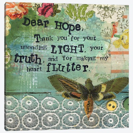 Dear Hope Canvas Print #KLR45} by Kelly Rae Roberts Canvas Print