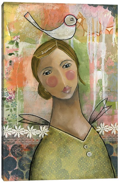Dreamer Girl Canvas Art Print