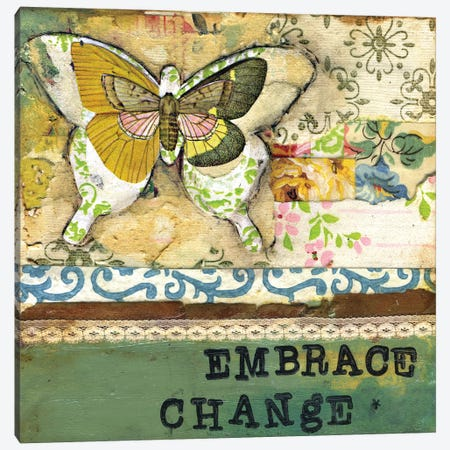 Embrace Change - Affirmation Canvas Print #KLR52} by Kelly Rae Roberts Canvas Art Print