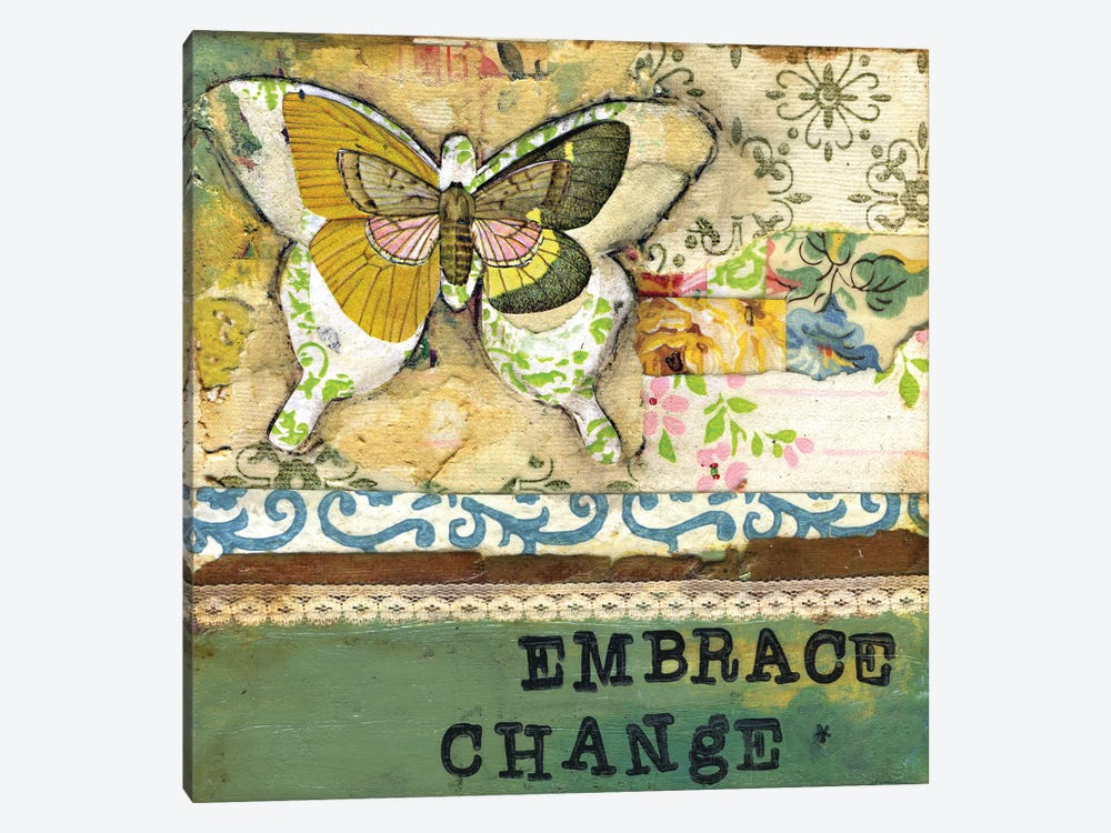 Embrace Change - Affirmation by Kelly Rae Roberts 1-piece Canvas Art