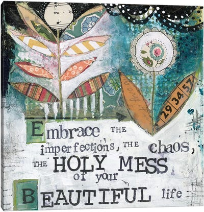 Holy Mess Canvas Art Print