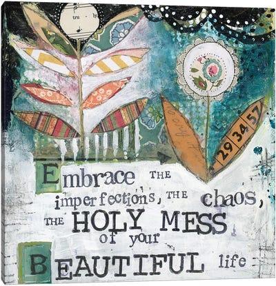 Holy Mess Canvas Art Print