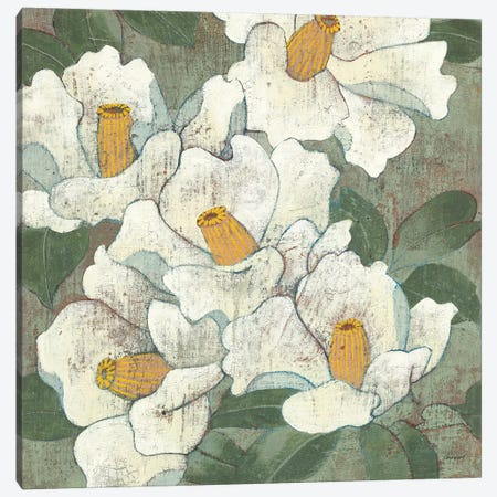 White Flowers I Dark Canvas Print #KLV13} by Kathrine Lovell Canvas Art Print