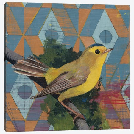 Wilsons Warbler Canvas Print #KLV14} by Kathrine Lovell Canvas Art