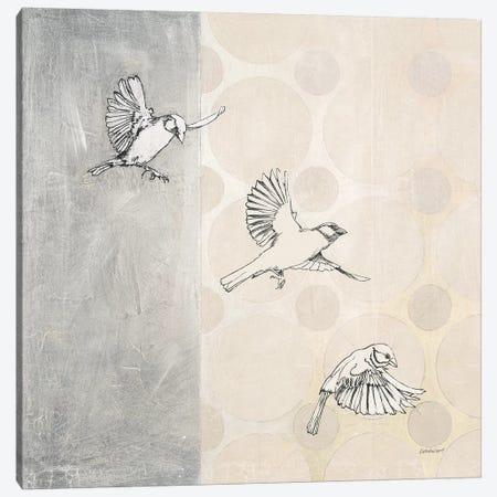 Sparrows Alighting Canvas Print #KLV23} by Kathrine Lovell Canvas Wall Art