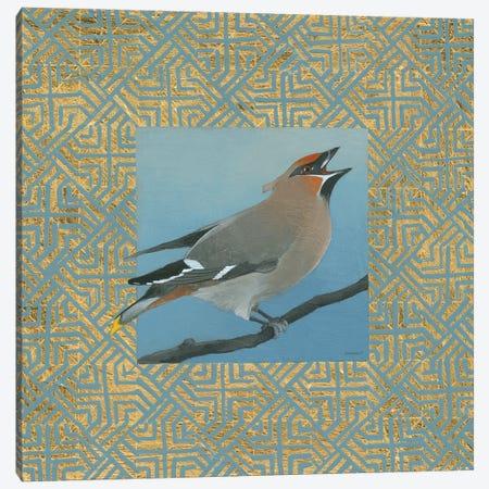 Cedar Waxwing Border Canvas Print #KLV24} by Kathrine Lovell Art Print