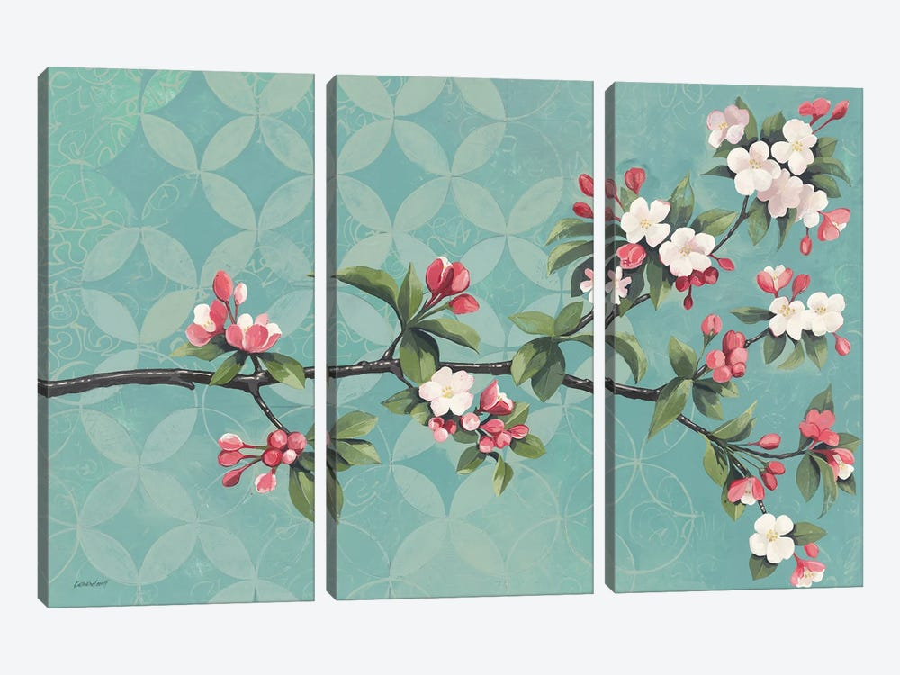 Cherry Blossoms by Kathrine Lovell 3-piece Art Print