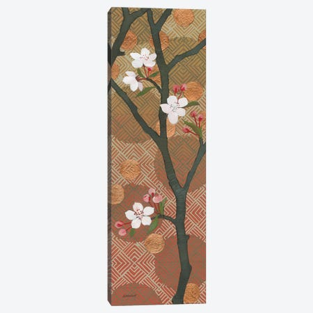 Cherry Blossoms Panel II Crop Canvas Print #KLV28} by Kathrine Lovell Canvas Art