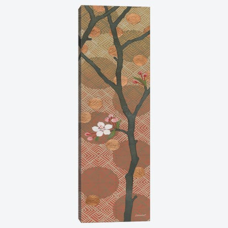 Cherry Blossoms Panel II One Blossom Canvas Print #KLV29} by Kathrine Lovell Canvas Wall Art