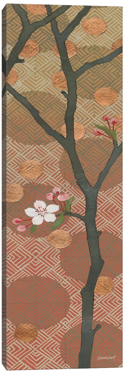 Cherry Blossoms Panel II One Blossom Canvas Art Print