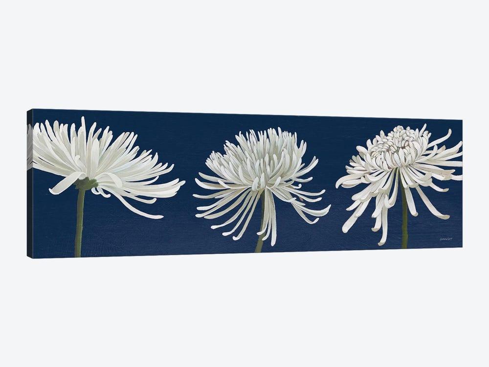 Morning Chrysanthemums V Dark Blue by Kathrine Lovell 1-piece Canvas Artwork