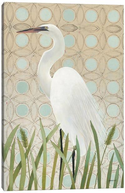 Free as a Bird Egret Canvas Art Print