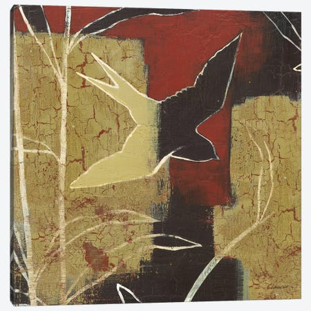 Sun Stems Tile I Canvas Print #KLV3} by Kathrine Lovell Art Print
