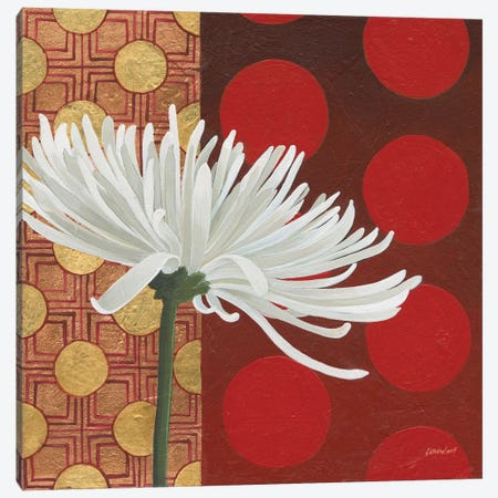 Morning Chrysanthemum I Canvas Print #KLV7} by Kathrine Lovell Canvas Artwork