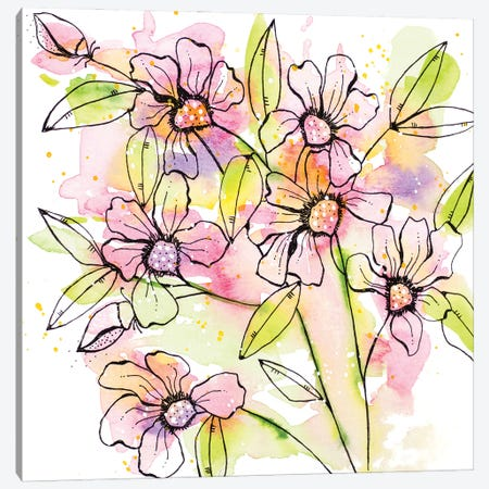A Splash of Beauty Florals Canvas Print #KLX15} by Krinlox Canvas Wall Art