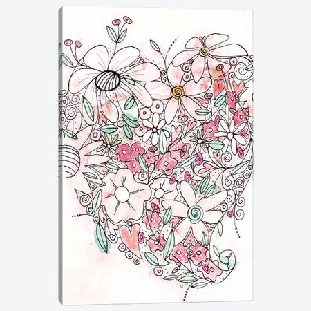 Blooming Heart I Canvas Print #KLX16} by Krinlox Canvas Wall Art