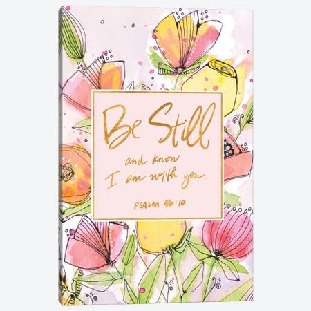 Be Still Spring Blooms Canvas Print #KLX1} by Krinlox Art Print