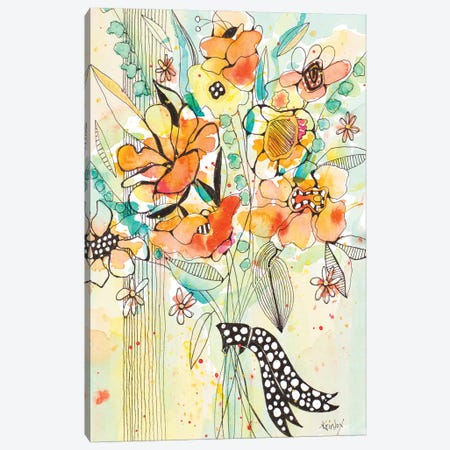 Bursting Wildflower Bouquet Canvas Print #KLX22} by Krinlox Canvas Wall Art