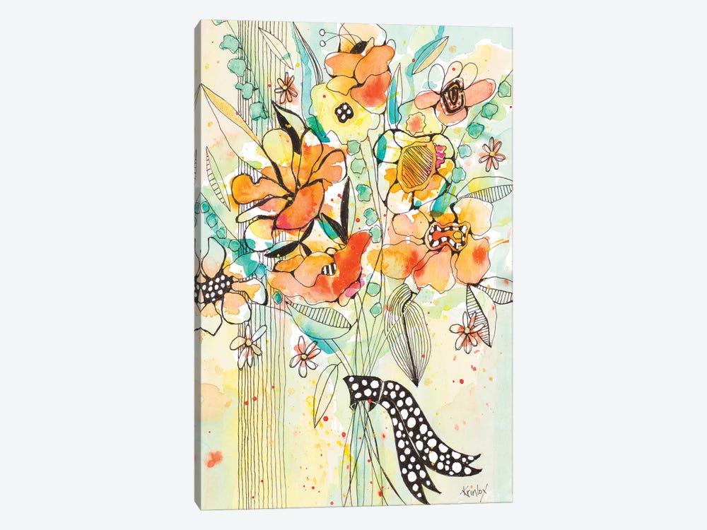 Bursting Wildflower Bouquet by Krinlox 1-piece Canvas Art Print