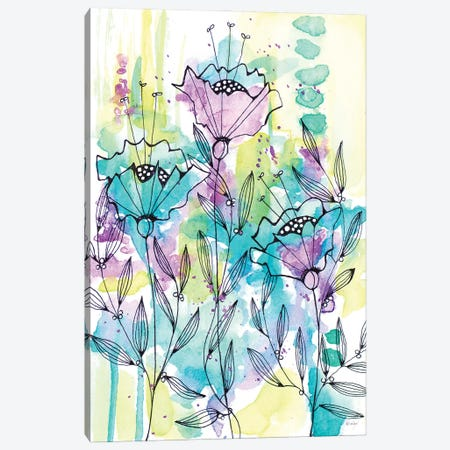 Floral Beauties Canvas Print #KLX24} by Krinlox Art Print