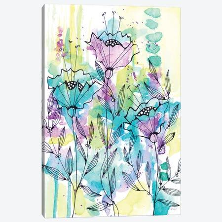 Floral Beauties Canvas Print #KLX24} by Krinlox Art Print