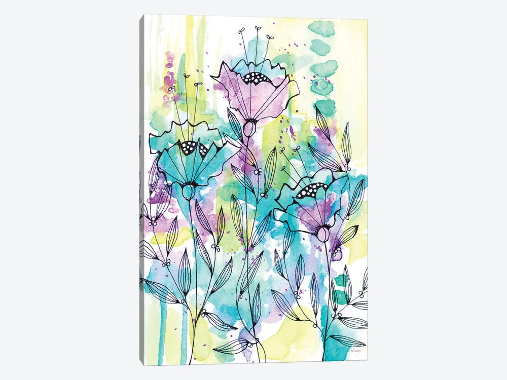 Floral Beauties by Krinlox 1-piece Canvas Print