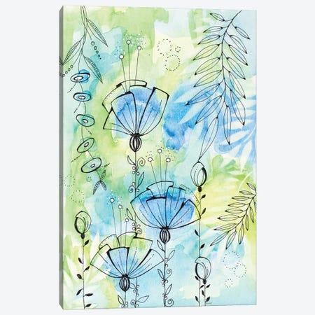 Floral Beauties Above Canvas Print #KLX25} by Krinlox Canvas Art Print