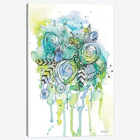 Floral Bouquet Wash Canvas Print #KLX26} by Krinlox Art Print