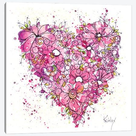 Heart of Flowers Canvas Print #KLX29} by Krinlox Canvas Artwork