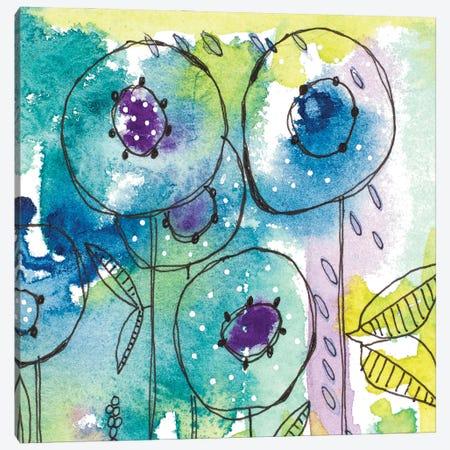 Splash of Watercolor Floral Canvas Print #KLX30} by Krinlox Canvas Print